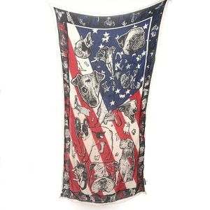 Free People Raining Cats and Dogs American Scarf